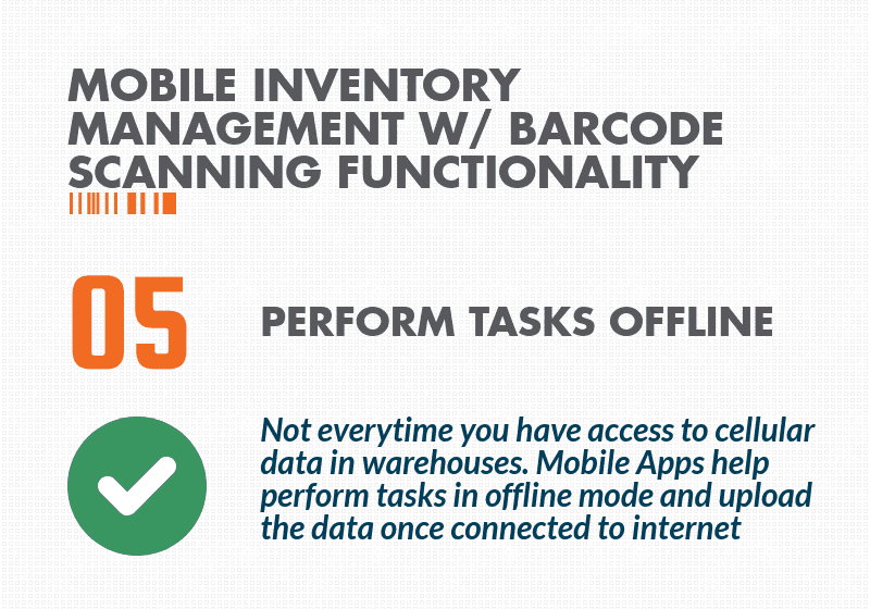 Inventory control with barcode scanner - Offline Storage