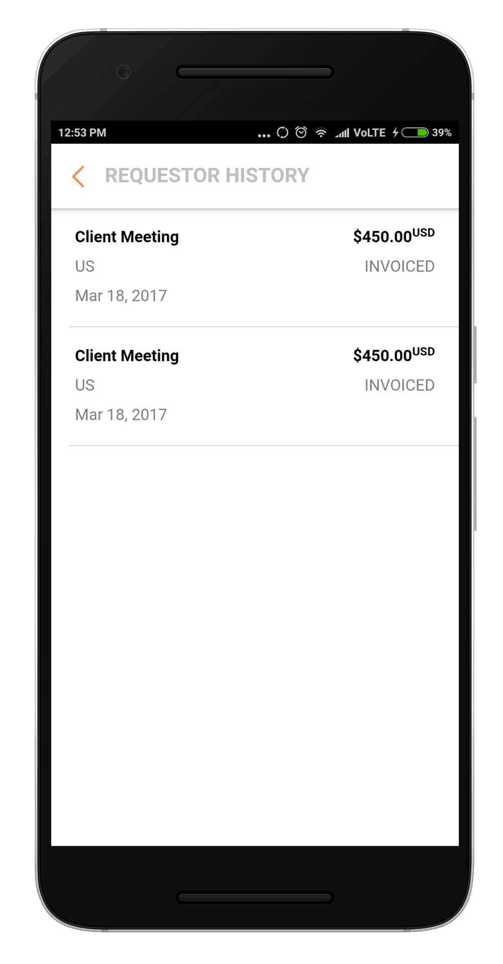Oracle Mobile Expenses Approval mobile app for expense management
