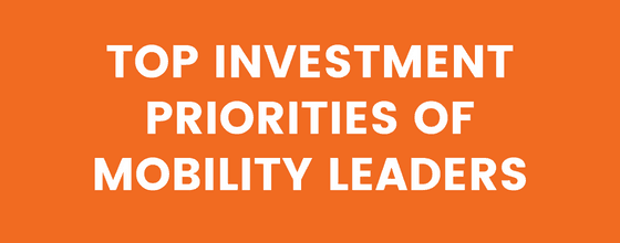 Top investment priorities of mobility leaders